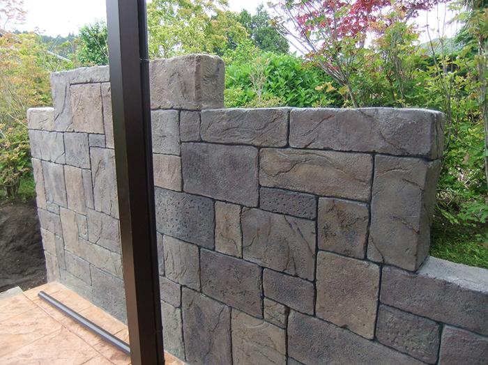 モルタル造形壁
